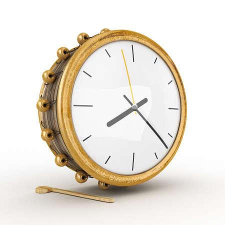 Ramadan drum clock 3D Rendered Isolated Stock Photo - 14391211