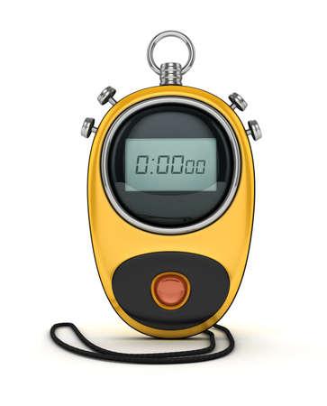 3d yellow digital watch Stock Photo
