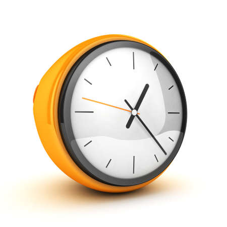 yellow clock 3d isolated photo