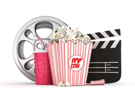 movie film reel: cine concepto
