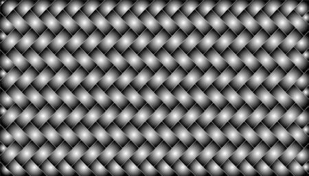 metalic woven texture. herringbone pattern background Illustration