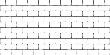 Stylized vector white brick wall background. For backdrop, pack, presentation, layout, book cover, wrapping paper, pattern, wallpaper, web page,