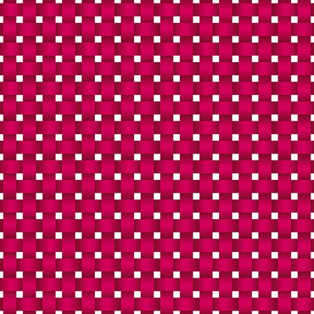 Vector seamless decorative pattern of braided ribbons. pink texture.