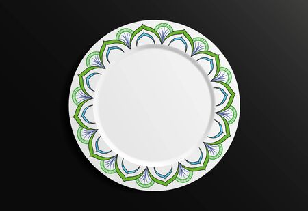 Vector Illustration. Round Geometric Floral Pattern. Oriental Pattern. Indian, Moroccan, Mystic, Ottoman Motifs. Ilustracja