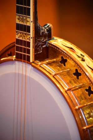 hand carved: Hand Carved & Painted 4 String American Banjo