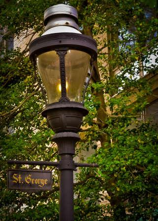 street lamp: St. George Street Lamp Stock Photo