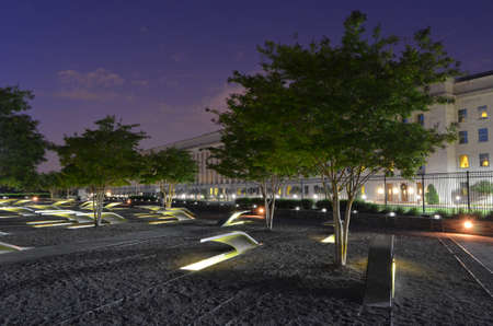 innocense: 911 Pentagon Memorial at Dusk