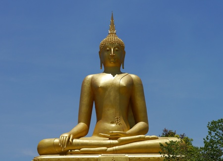 divinity: Golden Buddha statue