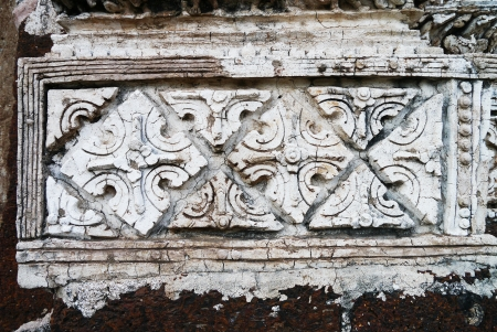 archaeologically: Stucco decoration on the pagoda