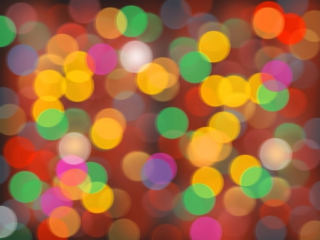 Abstract circular bokeh background of Christmaslight Stock Photo - 20162743