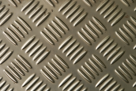 Background of metal diamond plate in silver color   Stock Photo - 20308999