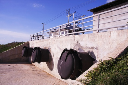 large steel pipe for Drainage system , Floodgate photo
