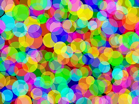 Elegant Abstract colorful circular bokeh background photo