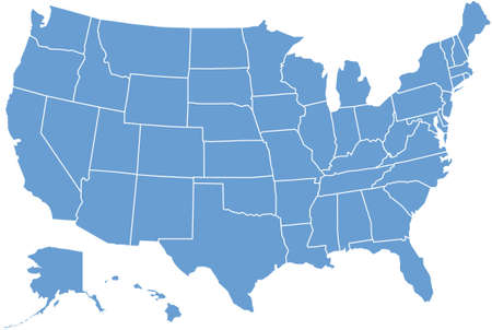 usa map: microphones
