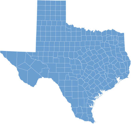 county: texas map