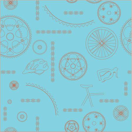 Bycicle parts background Banco de Imagens