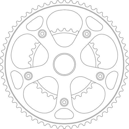 crank: manivela de bicicleta Foto de archivo