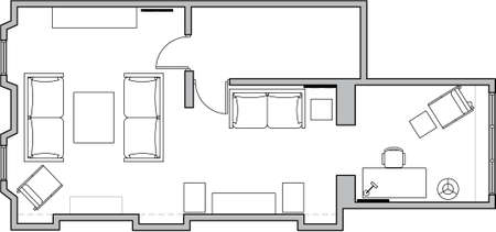 plans: floor plan Stock Photo