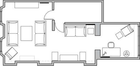 floor plan Archivio Fotografico