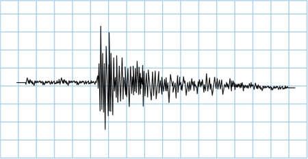 sismogr�fo: ola de terremoto  Vectores