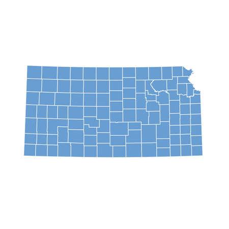 boundaries: map Kansas