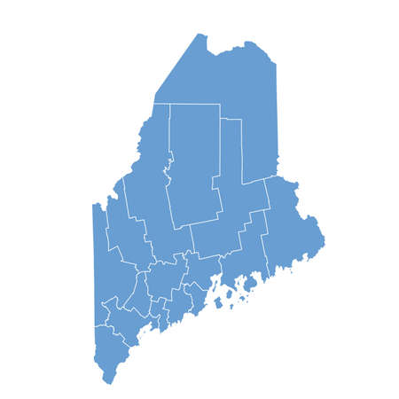 county: map Maine Illustration
