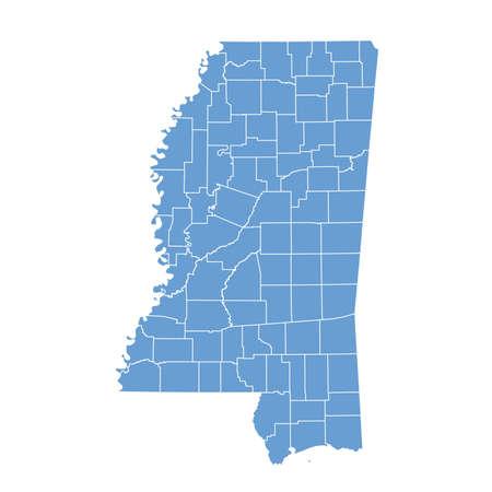 map Mississippi Vector