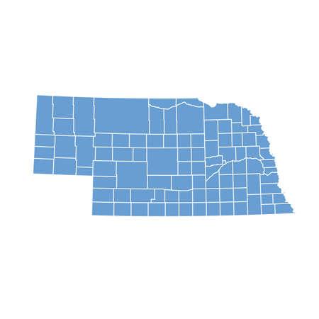 nebraska: map Nebraska