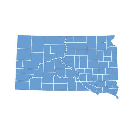 map South Dakota 版權商用圖片 - 6863278