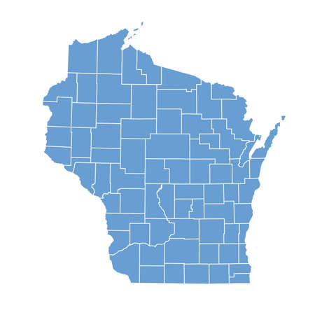 wisconsin state: map Wisconsin Illustration
