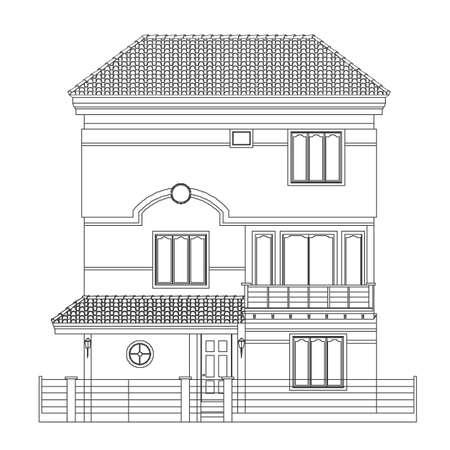 Indisch Haus Stil  Standard-Bild - 6959828