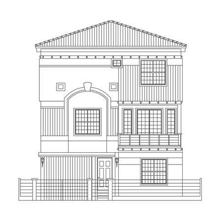 indian house style Stock Illustratie