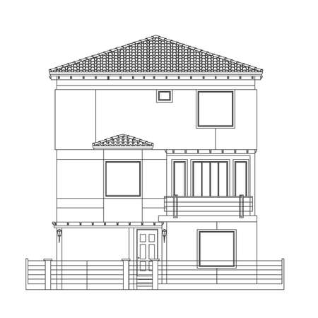 historic building: indian house style Illustration