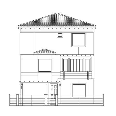indian house style Illustration