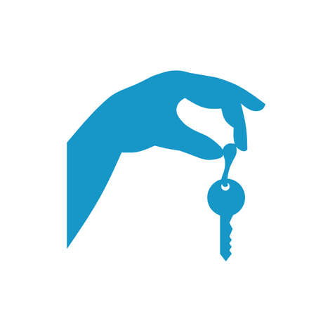 Holding keys Stock Vector - 8609721