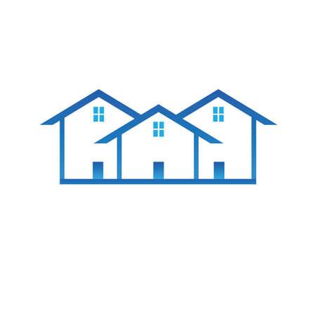 residential homes: Houses Illustration