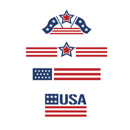 flag of usa: american set 1