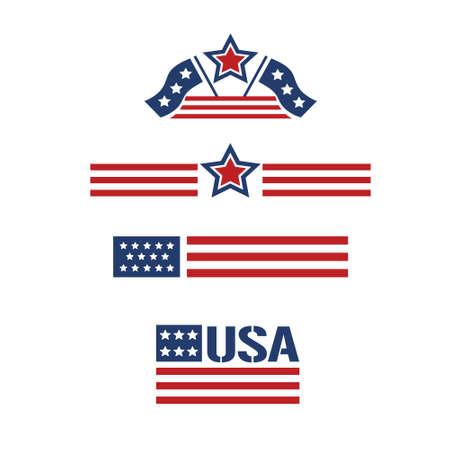banderas americanas: conjunto estadounidense 1