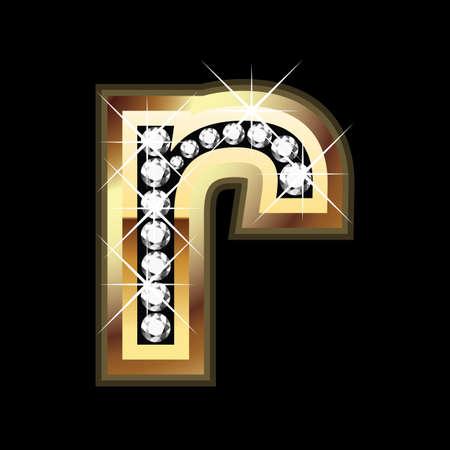 r bling letter 向量圖像