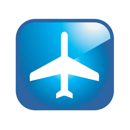 security symbol: airplane icon