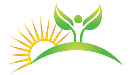 yoga position: Wellness symbol Illustration