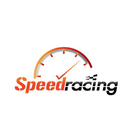 Snelheidsmeter logo Stock Illustratie