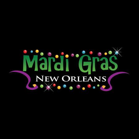 mardi gras: Logo Mardi Grass