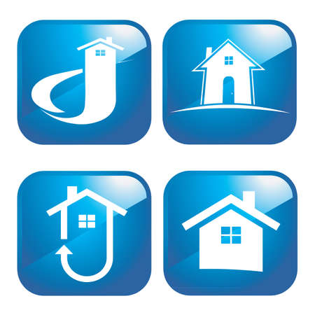 houses icon Stock Vector - 9401898