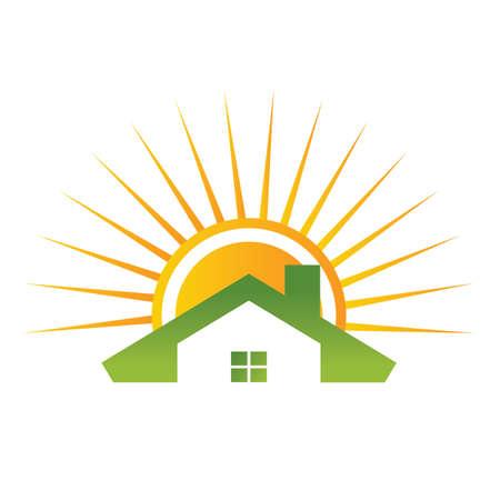 Huis met dak Stock Illustratie