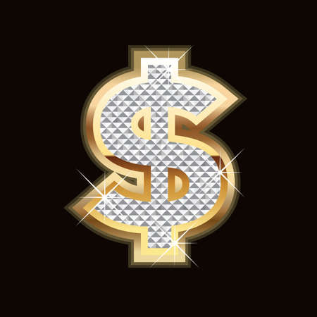 Dollar bling Vector