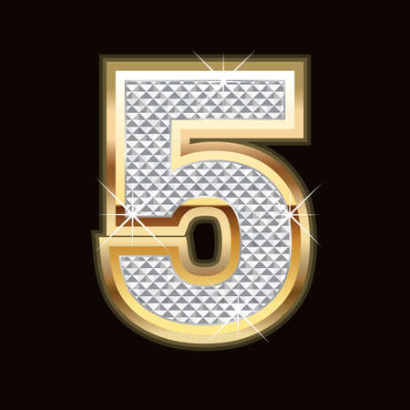 5th: Five bling Illustration