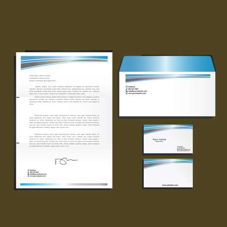 papier en t�te: Kit de corporatif