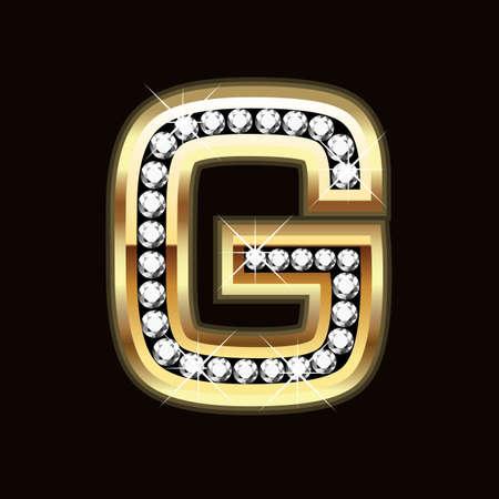 G bling Stock Vector - 9757992