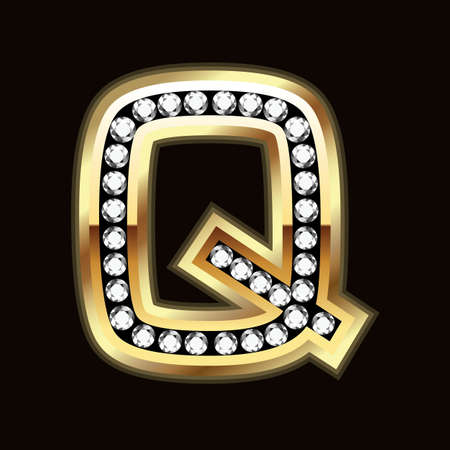 uppercase: Q palabra bling Vectores